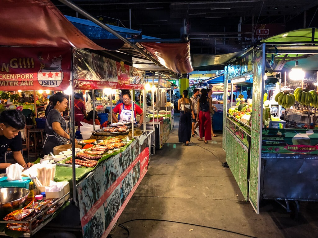 Market in Koh Phangan Thailand