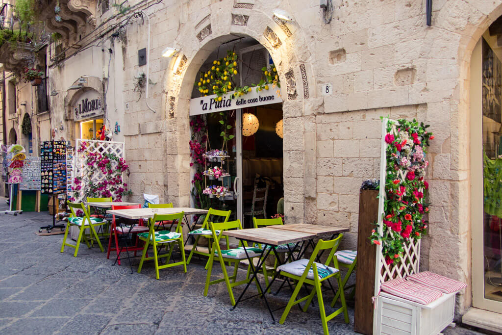 Restaurant in Siracusa, Sicily