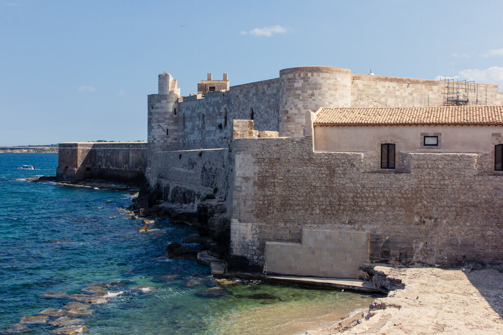 A castle in Ortigia, Siracusa's Old Town