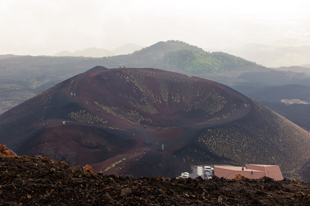 One of Etna volcano's craters