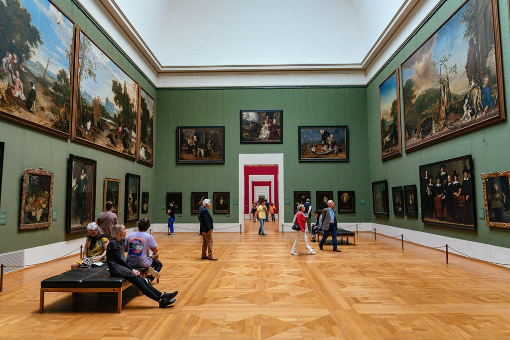 Interior of Alte Pinakothek Museum in Munich