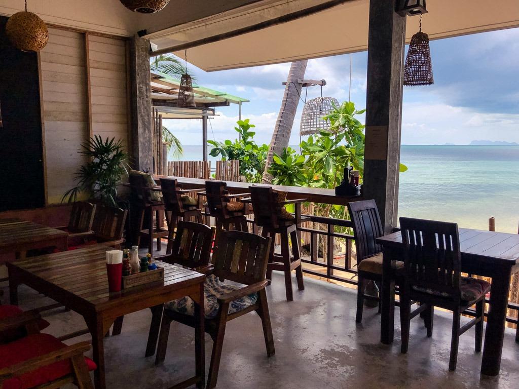 Beachside restaurant Benjamin's Hut Koh Phangan Thailand