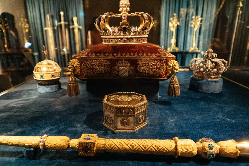 The Bavarian Crown Jewels at Treasury Museum in Munich