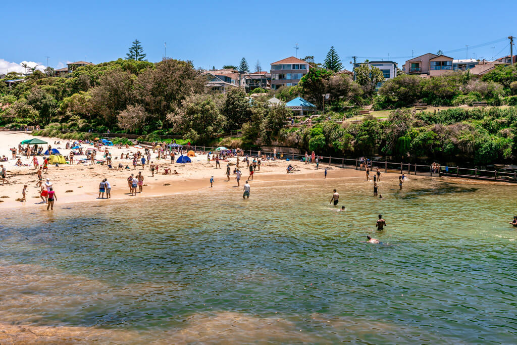 A small beach in Sydney Australia