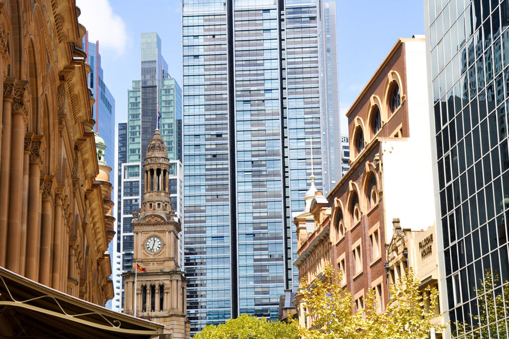 Sydney Town Hall and Queen Victoria Building