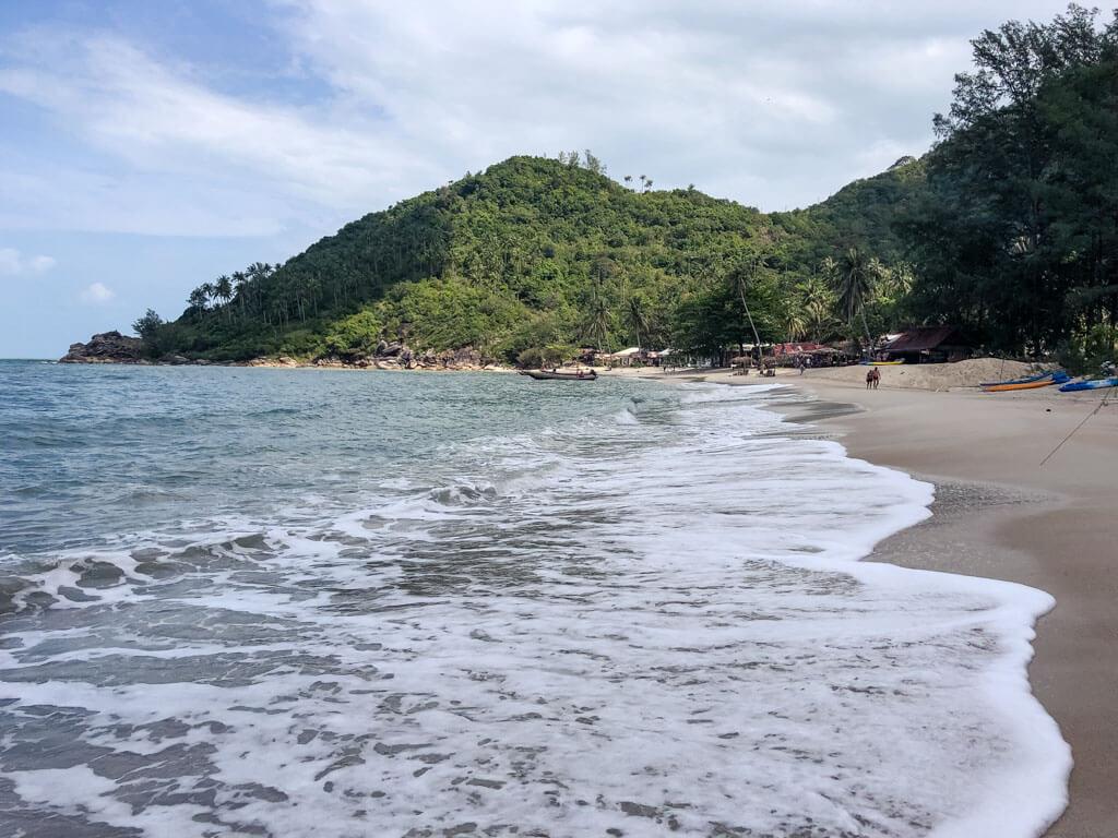 A pristine beach in Koh Phangan Thailand