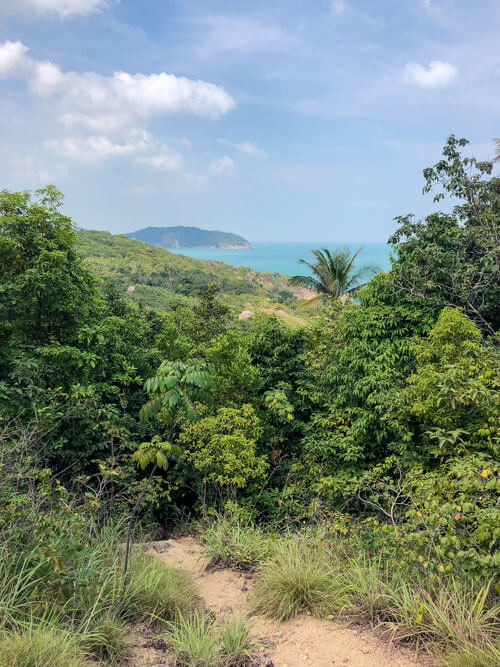 Views of the ocean on a beach hike