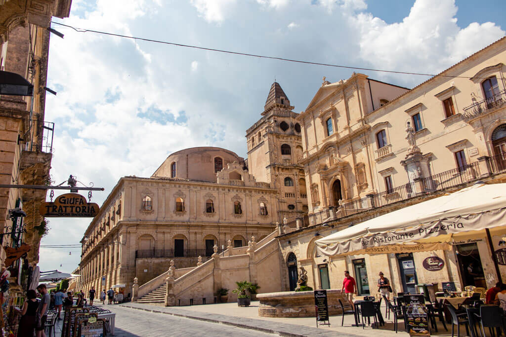 View of Baroque buildings in Noto, Sicily