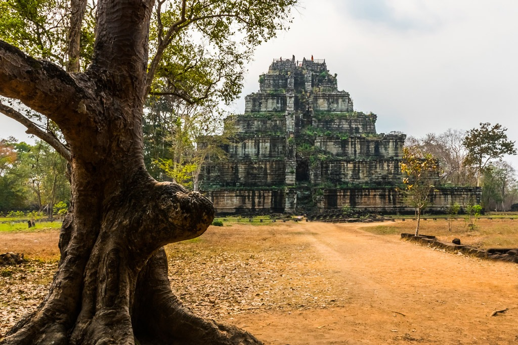 Pyramid-like ancient structure in Koh Ker Cambodia