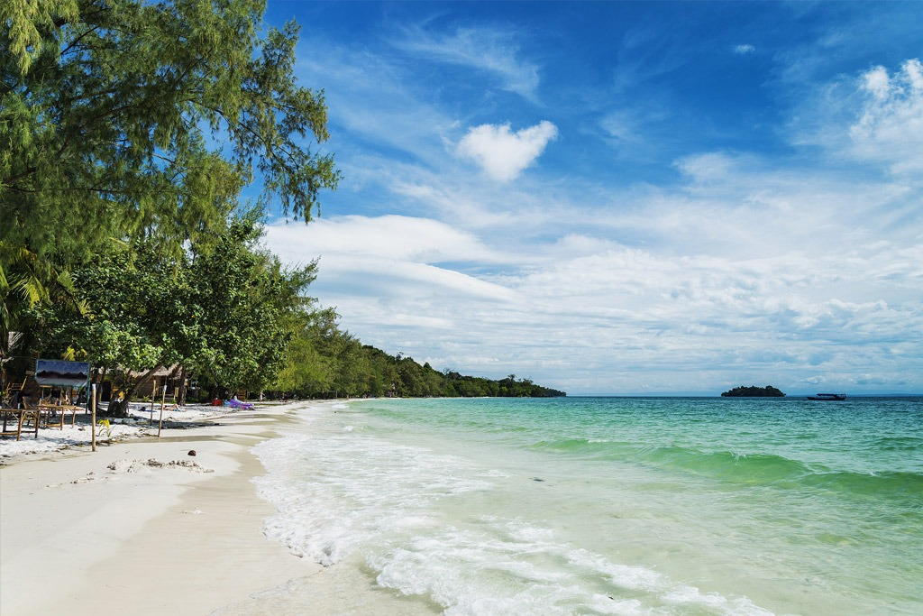 View of a beach on Koh Rong Island Cambodia