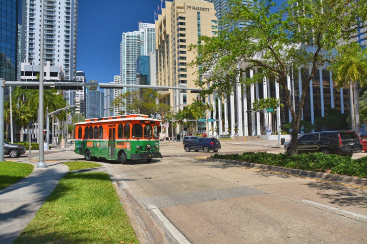 City of Miami Trolley in Florida