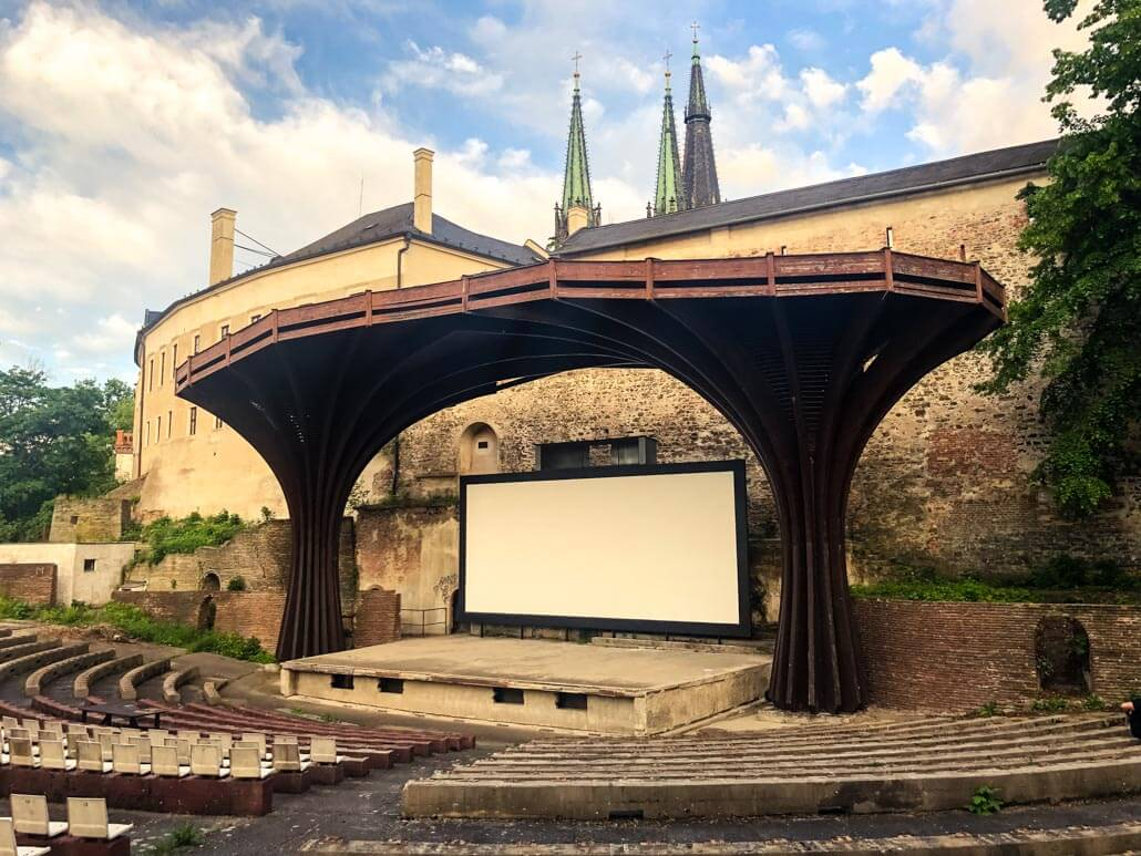 Summer movie theatre in Olomouc