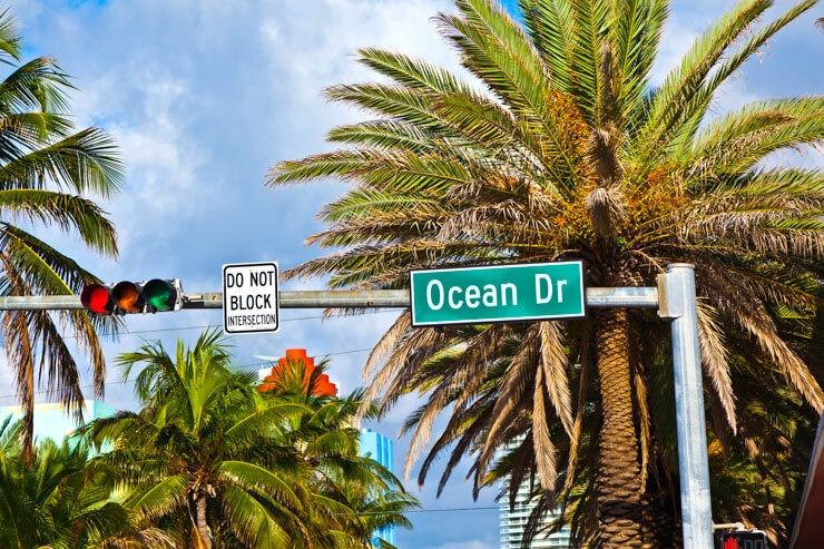 Ocean Drive street sign