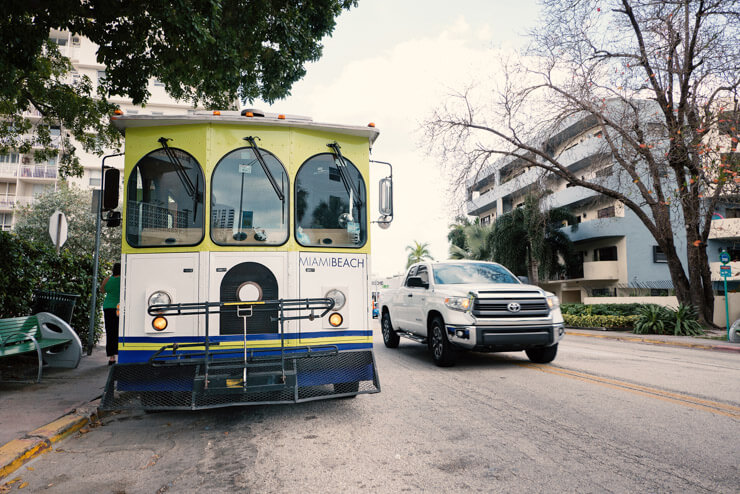 South Beach Trolley, a free transportation in Miami