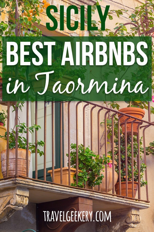 "View of balconies with text overlay ""Sicily: Best Airbnbs in Taormina"""