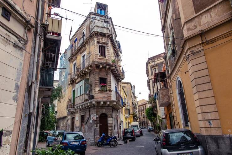 Typical apartments in Catania Sicily