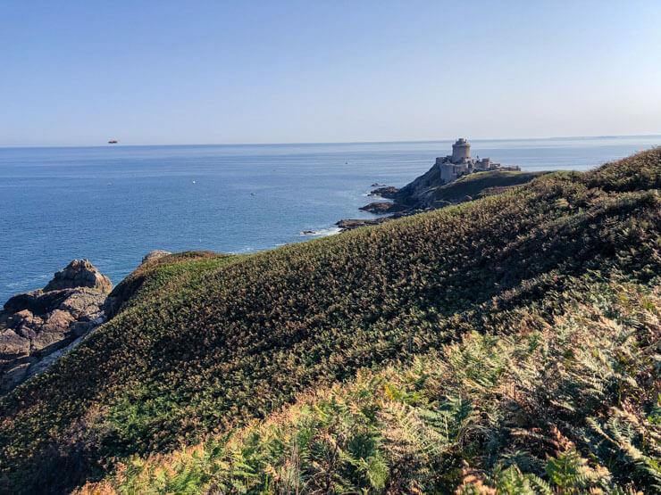 View of Brittany's Emerald Coast and Fortress La Latte