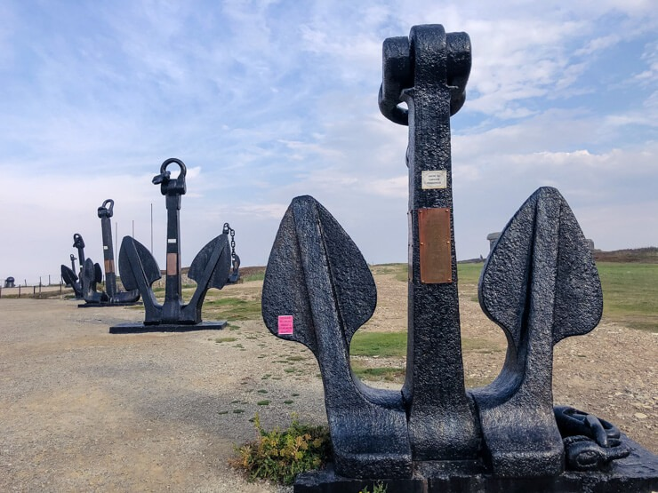 Large anchors of ships from the Atlantic Battle