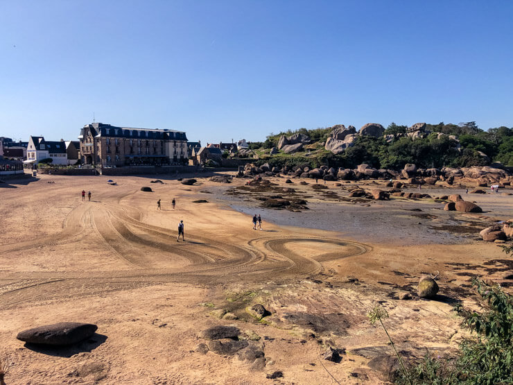 Beach in Brittany at low tide