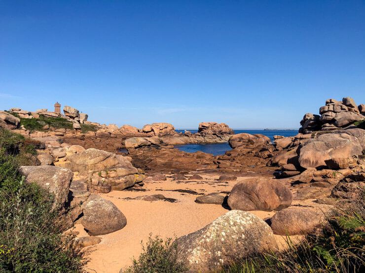 Pink Granite Coast in Brittany France