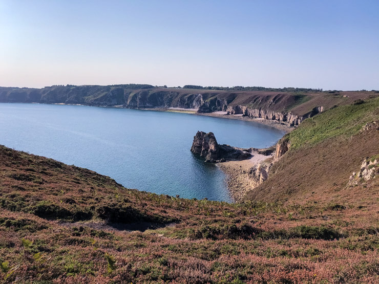 Cliffs of Coastal Walk at Cote d'Emeraude Brittany