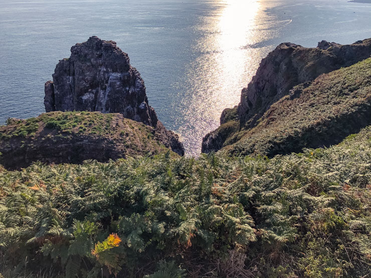 Coastal views of Emerald Coast Brittany