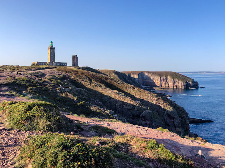 Dramatic cliffs and lighthouses of the Emerald Coast in Brittany France
