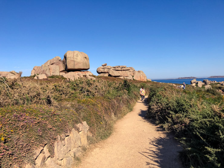 Path at the Pink Granite Coast Brittany France