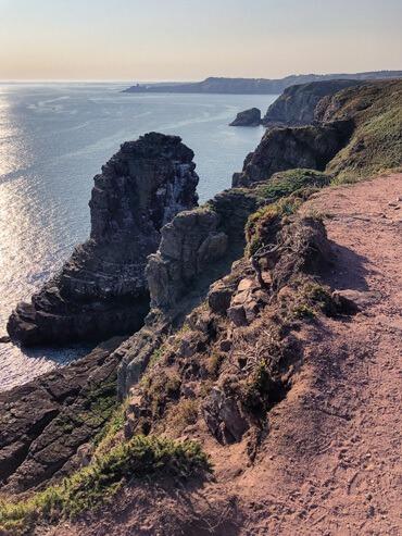 Pink path at Emerald Coast Brittany