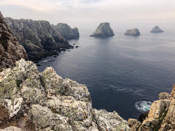 Les Tas de Pois islands off the coast of Pointe de Pen Hir