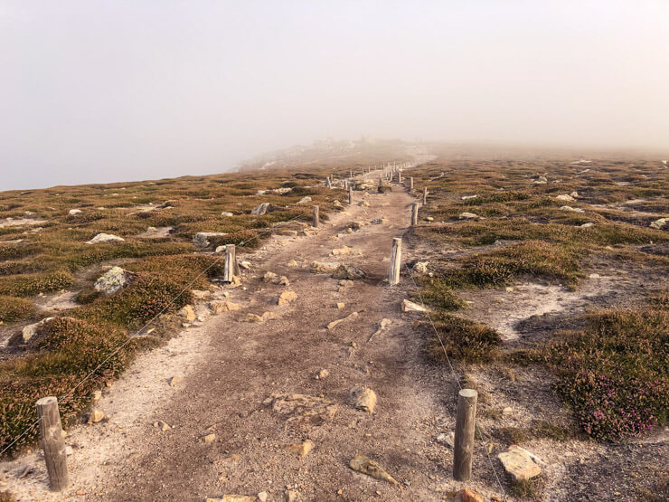 A foggy path on Brittany's Crozon Peninsula