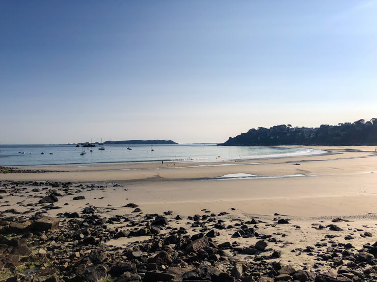 Trestraou Beach in Perros-Guirec at low tide