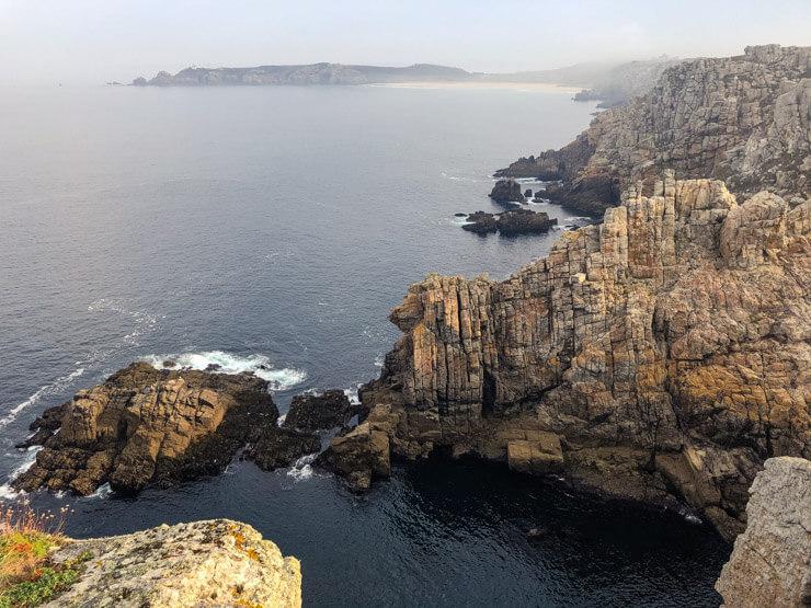 Unique rock formations Pointe de Pen Hir Crozon Brittany