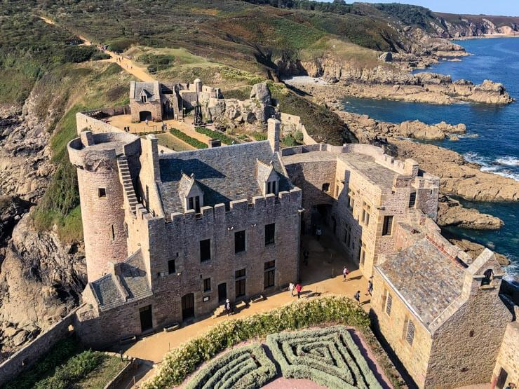 Views of Emerald Coast in Brittany from Fort La Latte