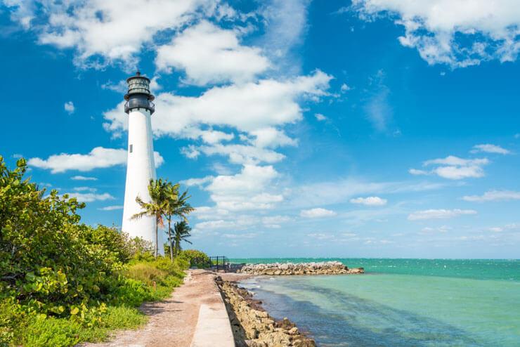 Cape Florida Lighthouse in Key Biscayne FL