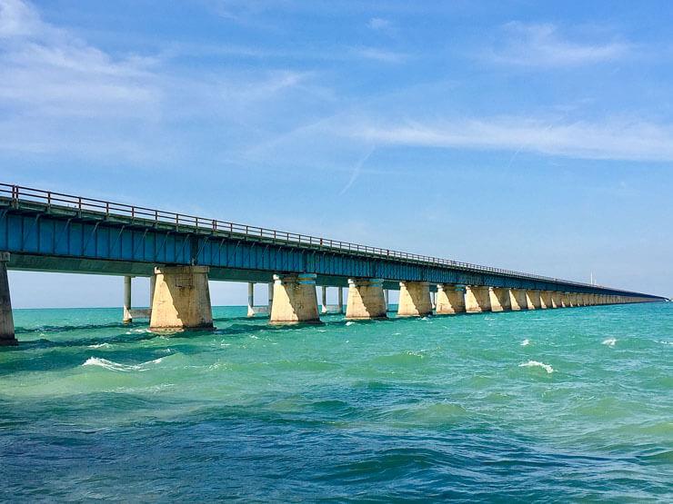 Seven Mile Bridge in Marathon Florida