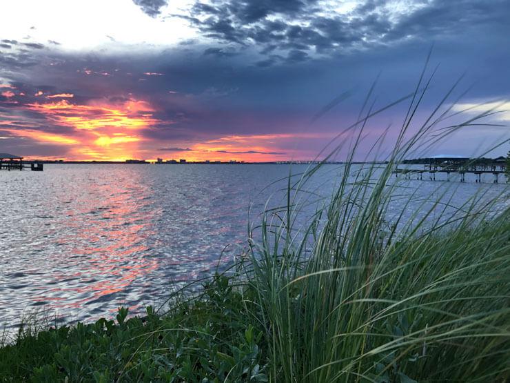 Sunrise on the coast of Melbourne FL