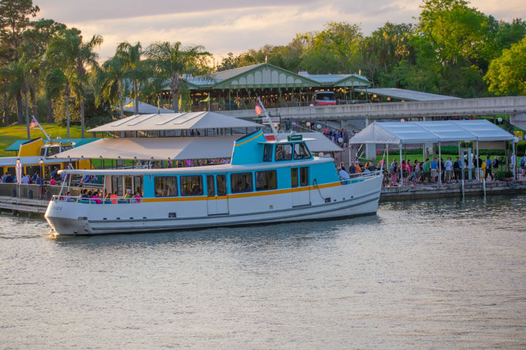 Taxi boat in Magical Kingdom Disney World