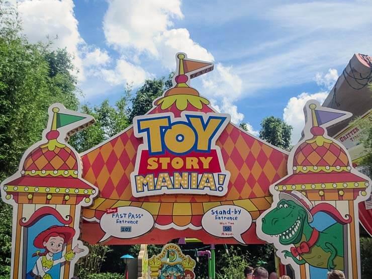 Entrance to Toy Story Mania at Hollywood Studios Disney World