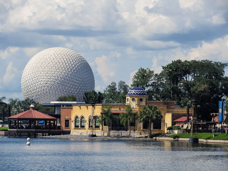 World Showcase and Spaceship Earth at Epcot theme park