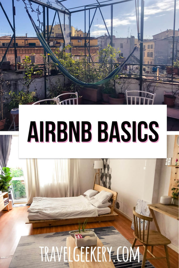 View of two apartments with text overlay: Airbnb Basics