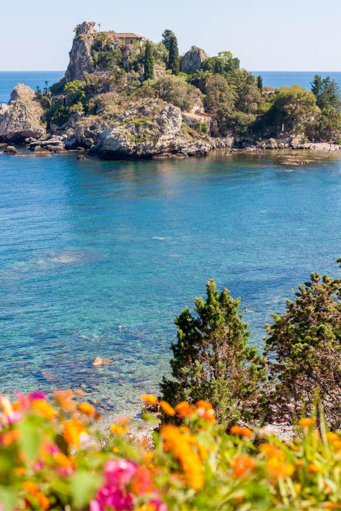 Isola Bella island in Taormina