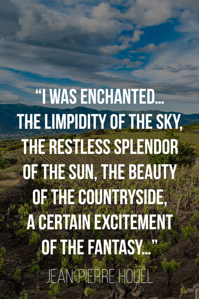 A quote about Sicily by Jean-Pierre Houel