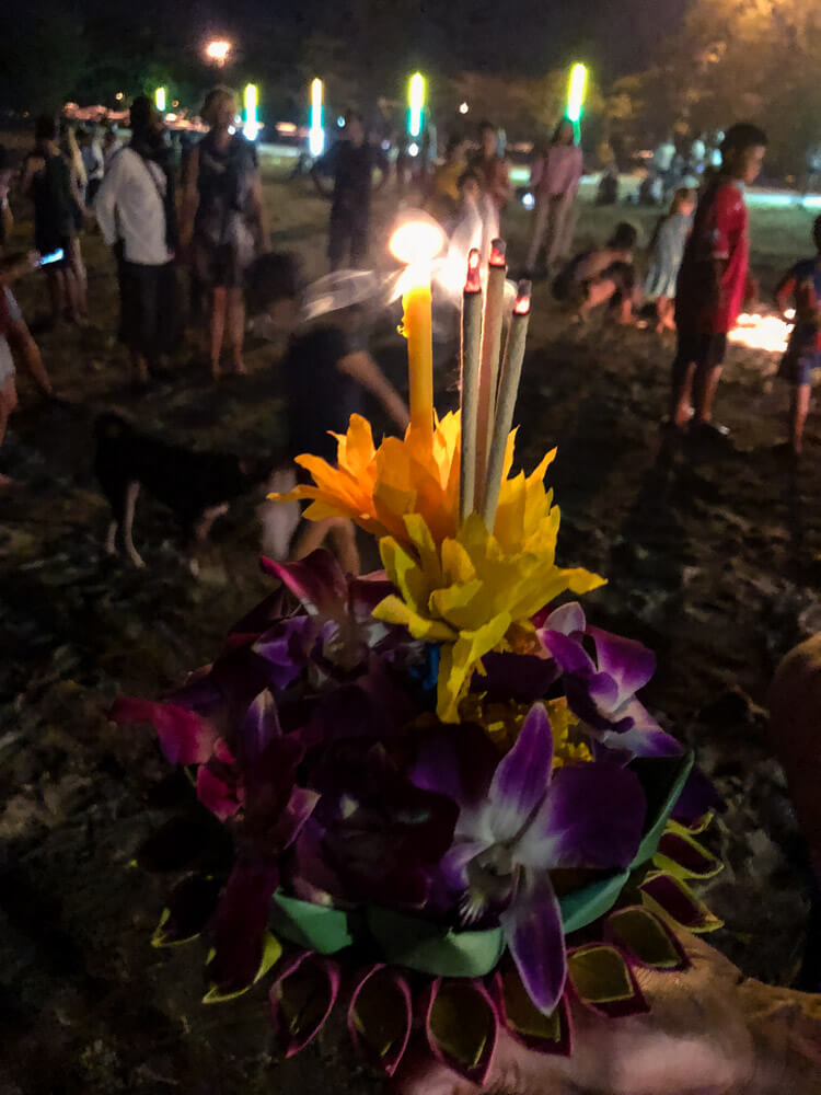 A basket for Loi Krathong Festival in Thailand