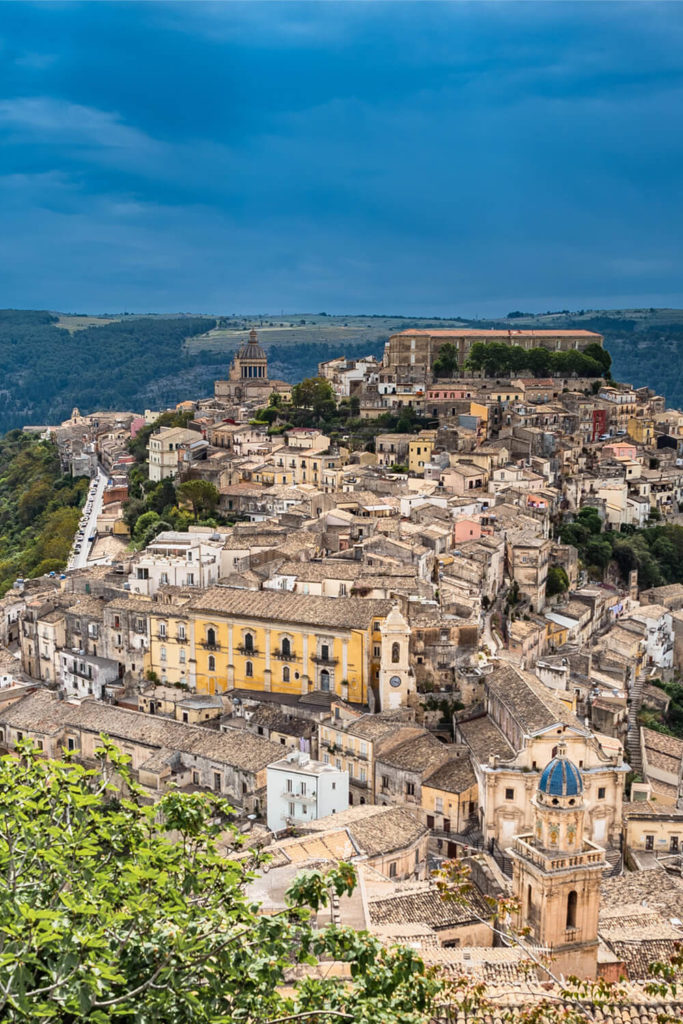 View of Ragusa Ibla town in Sicily