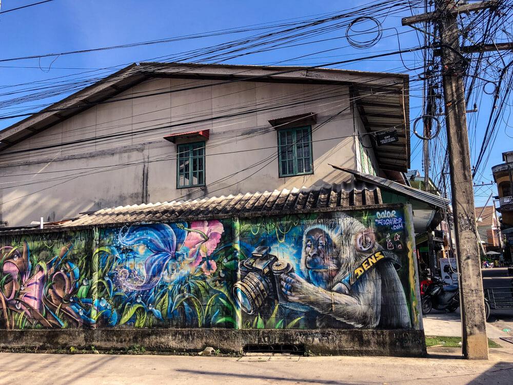 A mural in Thong Sala Koh Phangan