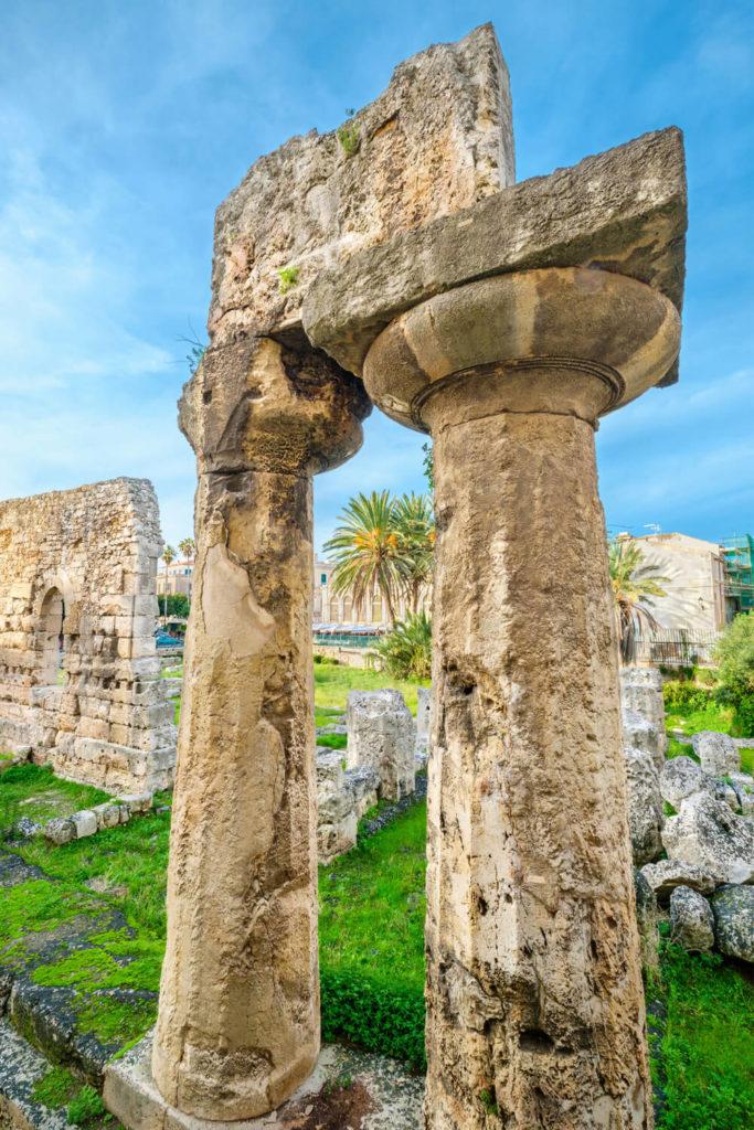 A temple ruin in Syracuse Sicily