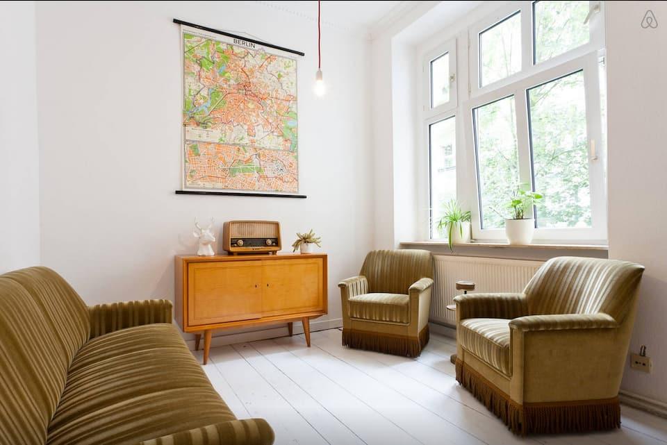 Retro furniture in a living room
