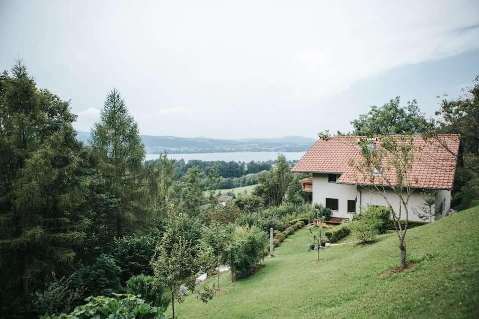 House near a lake