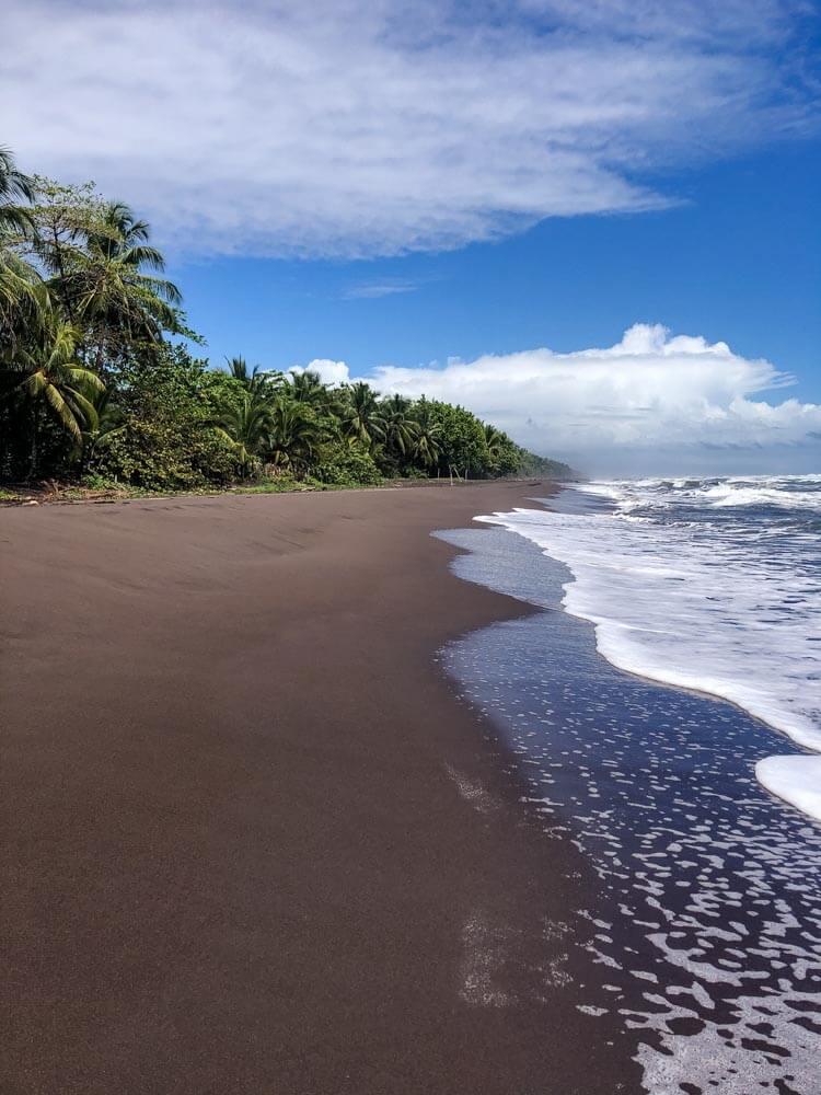 volcanic beach in Tortuguero Costa Rica